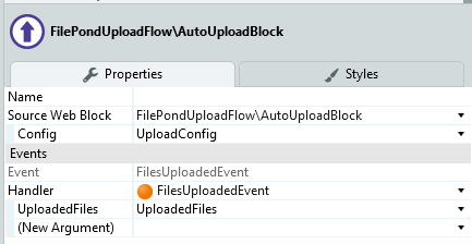 Use the auto upload block